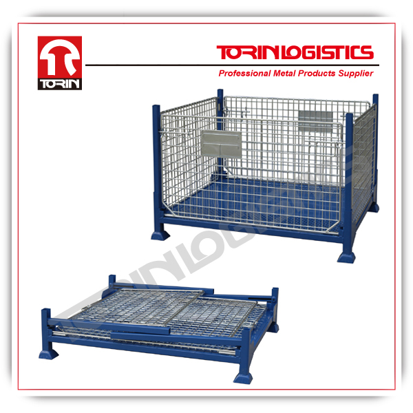 warehouse collapsible metal box pallet (L1235*W1035 mm/OEM)