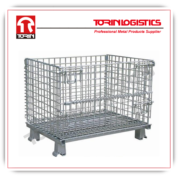 Warehouse Galvanized Foldable Storage Wire Cages