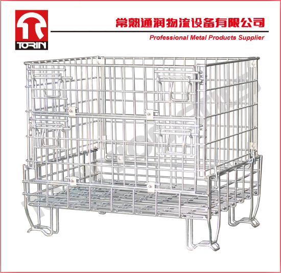 Foldable safety metal container (1200*800*1000 mm/OEM)